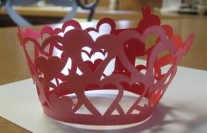 Valentine's Cupcake Wrapper by Judy