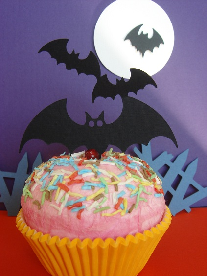 Cupcake Accent - 3 Bats by Stellar Stationery