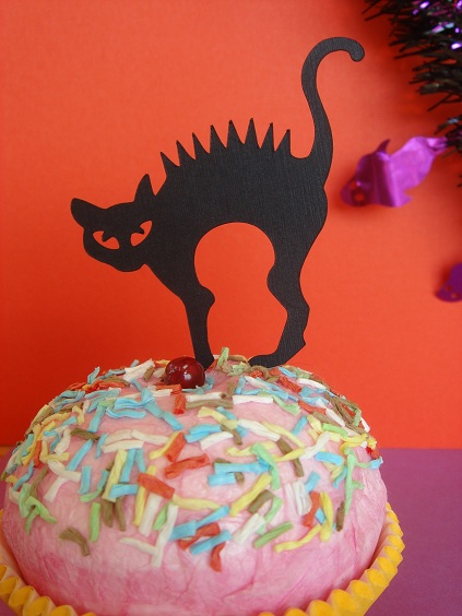 Cupcake Accent - Scary Cat by Stellar Stationery