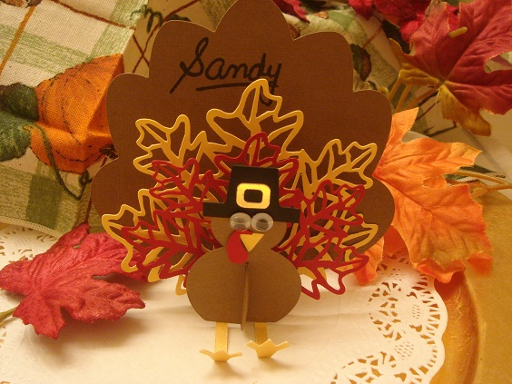 Turkey Center Piece and Place Cards