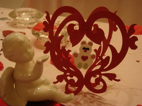 Valentine Bear Table Ornament